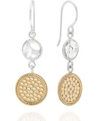 Anna Beck - Signature Hammered & Dotted Reversible Circle Pendant Necklace - Lyst