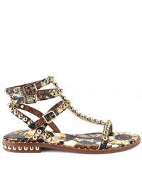 Ash Play Bis Studded Sandals - Metallic