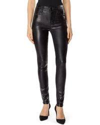 J Brand - Maria High Rise Coated Skinny Jeans - Lyst