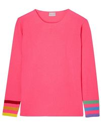 ORWELL + AUSTEN - Rainbow Sleeve Cashmere Sweater - Lyst
