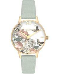 Olivia Burton - Signature Florals Midi Dial Watch - Lyst