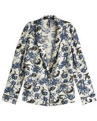 Maison Scotch Printed Pajama Blazer - Blue