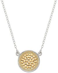 Anna Beck - Reversible Disc Necklace - Lyst