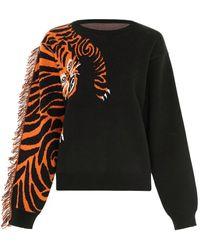 Hayley Menzies Tiger Head Black Sweater