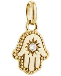 Kirstin Ash Bespoke Hamsa Hand Crystal Charm - Metallic