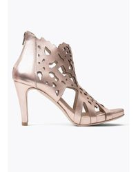 Sargossa Shades Leather Heels - Metallic