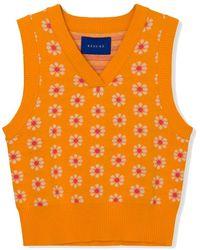 Résumé Feely Knitted Vest - Orange