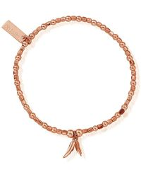 ChloBo - Mini Cube Double Feather Bracelet - Lyst