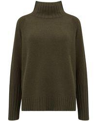 360 Sweater Annalee Turtleneck Cashmere Jumper - Green