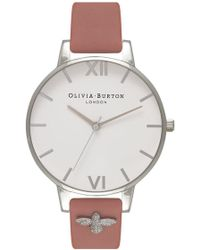 Olivia Burton - 3d Bee Embellished Strap Watch - Lyst