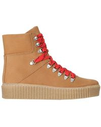 Shoe The Bear Agda Nubuck Lace Up Boot - Brown