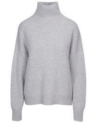 360 Sweater Leia Cashmere Turtleneck Jumper - Grey