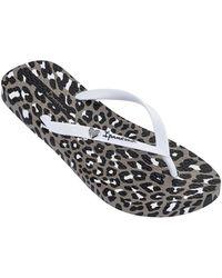 Ipanema Animal Print Flip Flops - White