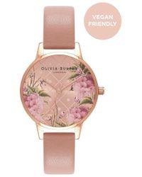 Olivia Burton - Vegan Friendly Floral Midi Dial Watch - Lyst
