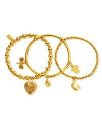 ChloBo - Stack Of 3 Happiness Bracelets - Lyst