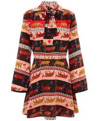 Hayley Menzies Tigress Mini Dress - Red