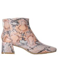 Shoe The Bear April Snake Ankle Boot - Multicolour