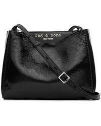 Rag & Bone Passenger Cross Body Patent Leather Bag - Black