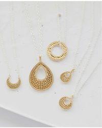 Anna Beck Signature Reversible Small Open Circle Pendant Necklace - Metallic