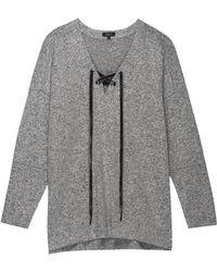 Rails Leigh Gray Knitted Sweatshirt
