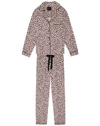 Rails Clara Printed Poplin Pyjama Set - Pink