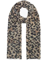 Lily and Lionel Vintage Animal Cashmere Scarf - Multicolour