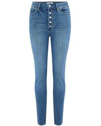 PAIGE Margot Skinny Super High Rise Jeans - Blue