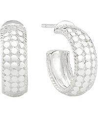Anna Beck Small Dome Hoop Earrings - Metallic