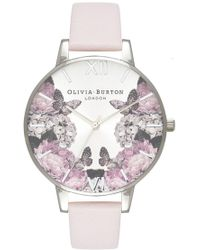 Olivia Burton - Signature Florals Big Dial Watch - Lyst