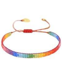 Mishky Rainbow Track Beaded Bracelet - Multicolor
