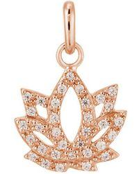 Kirstin Ash Bespoke Crystal Lotus Charm - Metallic