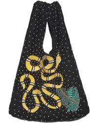 Becksöndergaard - Ellia Snake Embellished Velvet Bag - Lyst