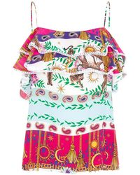 Hayley Menzies Enchanted Leopard Frill Cami - Multicolour