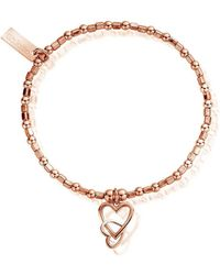 ChloBo - Mini Cube Interlocking Love Heart Bracelet - Lyst