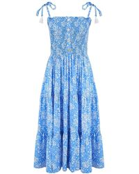 Beachgold Harmony Midi Dress - Blue