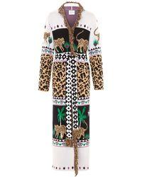 Hayley Menzies Leopardess Duster Cardigan - Black