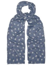 Lily and Lionel Cosmos Scarf - Blue
