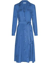 FABIENNE CHAPOT Thea Chambray Dress - Blue