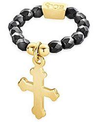 ChloBo - Lucky 13 Cross Charm Ring - Lyst