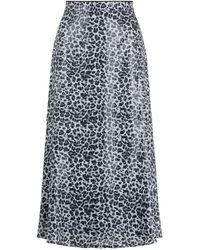 Olivia Rubin Jeanie Sequin Skirt - Green