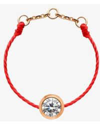 RedLine 18ct Gold And Red Thread Diamond Ring - Multicolour