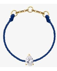 RedLine 18ct Gold And Blue Diamond 'altesse' Thread Ring - Metallic