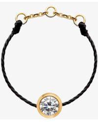 RedLine 18ct Gold And Diamond Black Thread Ring - Multicolour