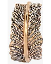 Kismet by Milka 14ct Rose Gold Plain Feather Cuff (single) - Multicolour