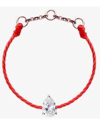 RedLine 18ct Rose Gold And Diamond Altesse Red Thread Ring