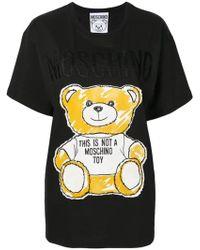 1b590c9a Moschino Punk Teddy T-shirt White in White - Lyst