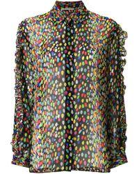Marco De Vincenzo - Leopard Ruffled Shirt - Lyst