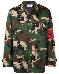 Gcds - Camouflage Print Jacket - Lyst
