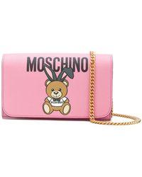 Moschino - Teddy Playboy Wallet On Chain - Lyst