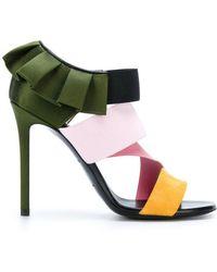 Emilio Pucci - Frilled Stiletto Sandals - Lyst